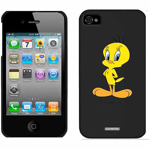 Tweety Straight Design on Apple iPhone 4/4s Thinshield Snap-On Case by Coveroo