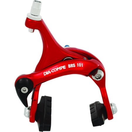 BRAKE CALIPER ROAD FR 43-57mm RED DIA-COMPE (Dia Compe Road Brake)