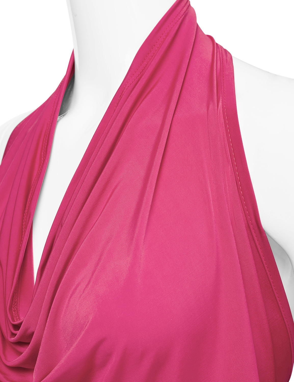 6cd8a222a568e Doublju - Doublju Women s Lightweight Casual Halter Neck Draped Backless  Top FUCHSIA M - Walmart.com
