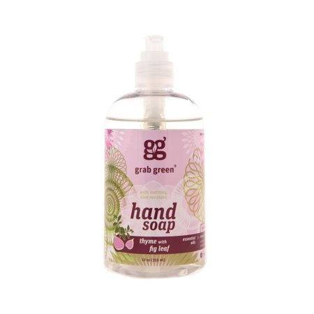 - Grab Green Hand Soap, Thyme & Fig Leaf, 12 Fl Oz