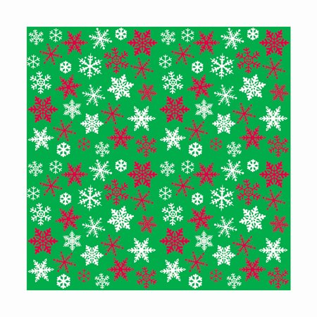 Snowflakes Holiday Wrapping Paper, 5 x 2.5ft, 1ct - Teal Wrapping Paper