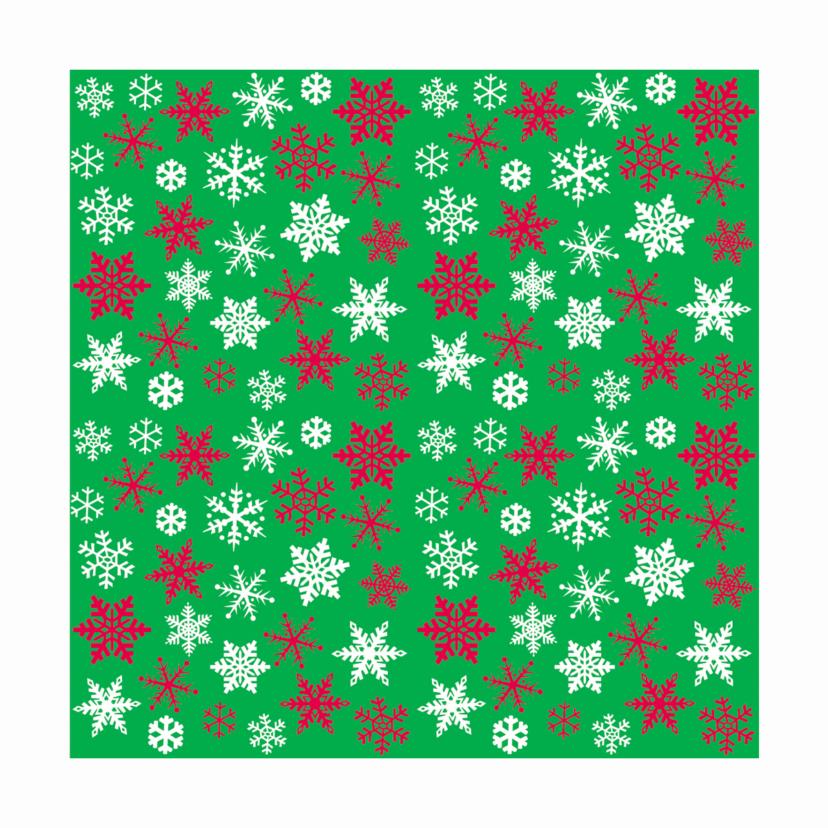 Snowflakes Holiday Wrapping Paper, 5 x 2.5ft, 1ct