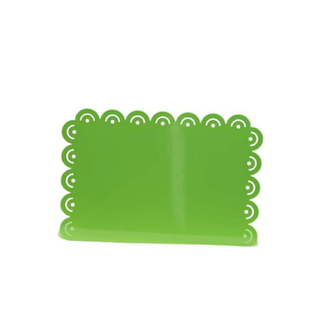 Lime Green Scalloped Horizontal Picture Frame With Cut Outs - Photo Cut Outs