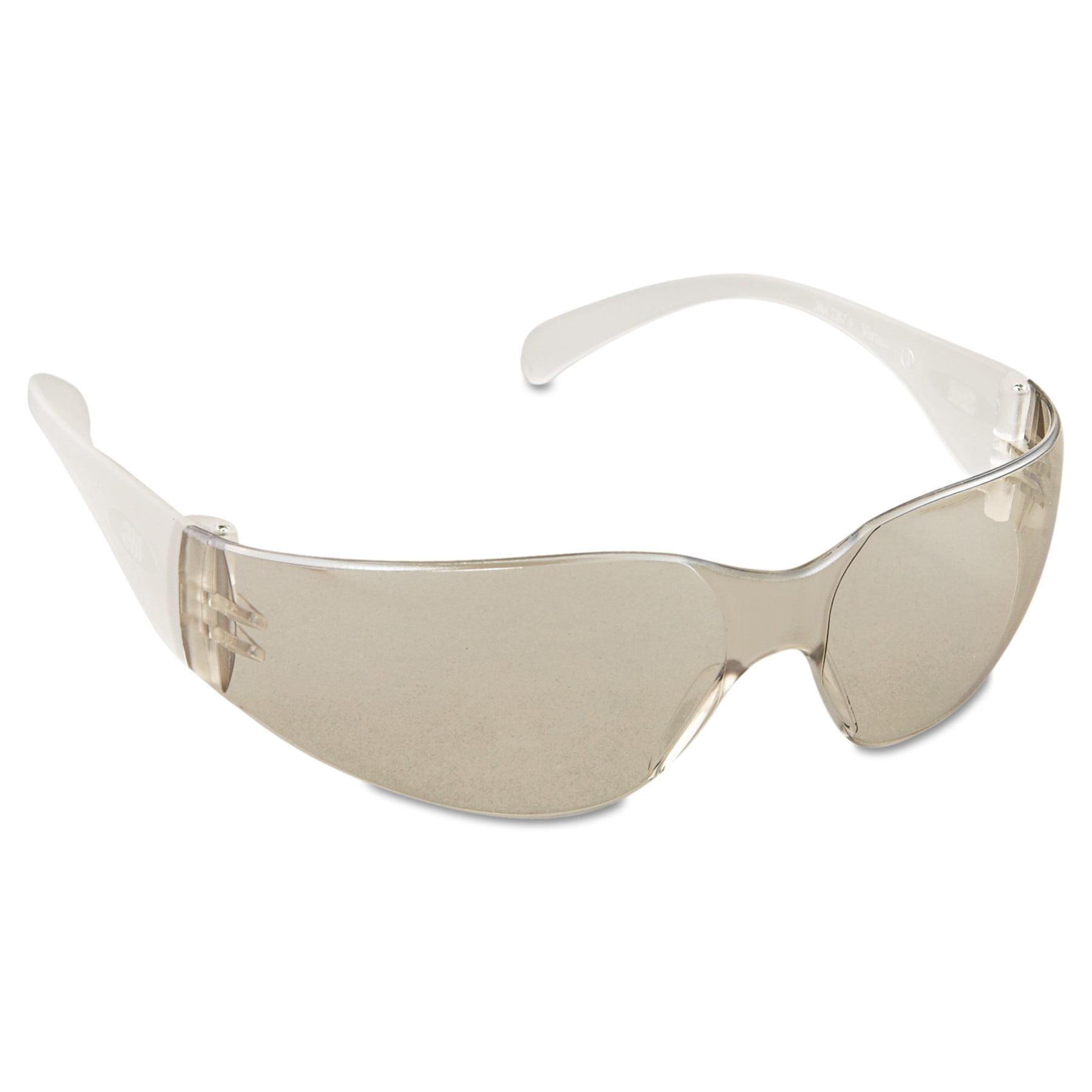 3M Virtua Protective Eyewear, Clear Frame, Mirror Indoor/Outdoor Lens