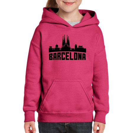 Barcelona Hoody - Barcelona Spain Unisex Hoodie For Girls and Boys Youth Sweatshirt