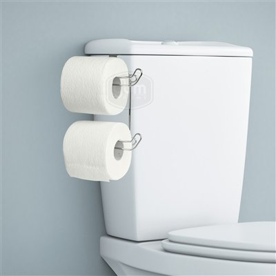 Ybmhome Over the Tank Toilet Paper Tissue Hanging Metal 2-Roll Holder ()