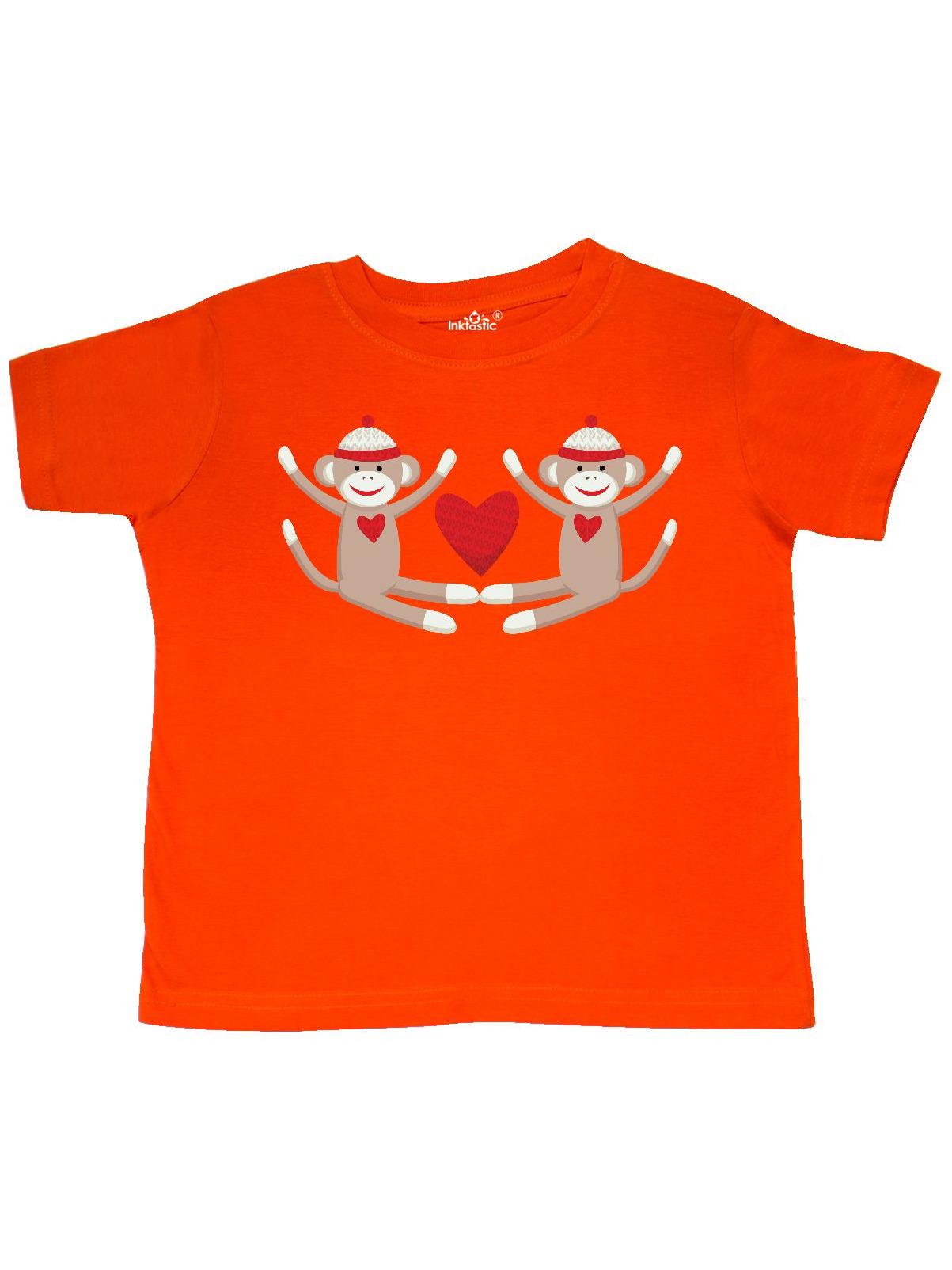 Sock Monkey Twins Toddler T-Shirt