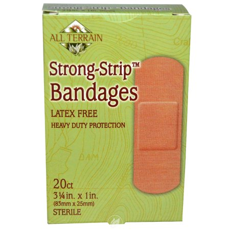 All Terrain Strong Strip Bandages 1x3.25 inch 20 Pc, Pack of 2