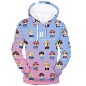 e6d0b131 Fancyleo Unisex BTS Fans Hoodie 3D Print Portrait Pullover Cool KPOP  Fashion Sweatshirt Jimin V Suga