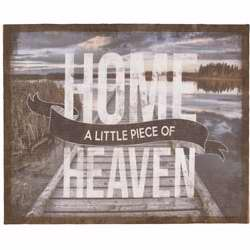 Wall Art-Little Piece Of Heaven-Burlap (18 x 22)