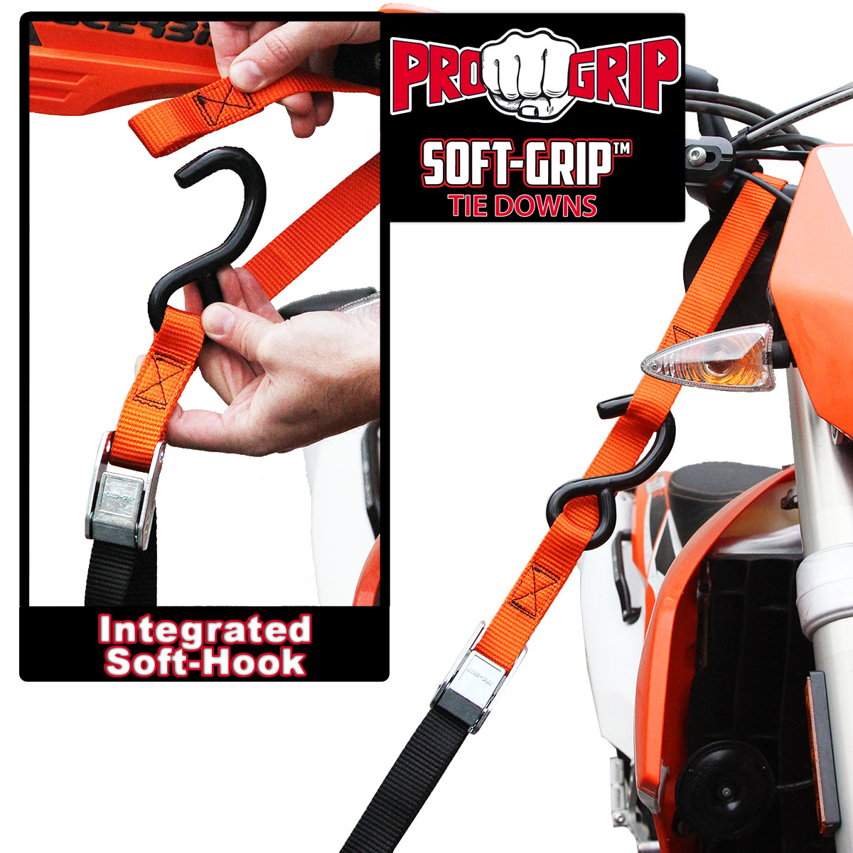 Progrip Powersports Motorcycle Soft Loop Tie Down Straps Lab Tested Blu 4 Pack