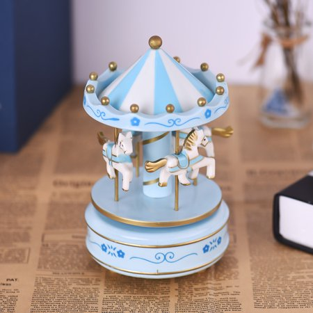 Merry-Go-Round Carousel Music Box Classical Melody Birthday Christmas Festival Musical Gift for Children Kids - image 4 of 6