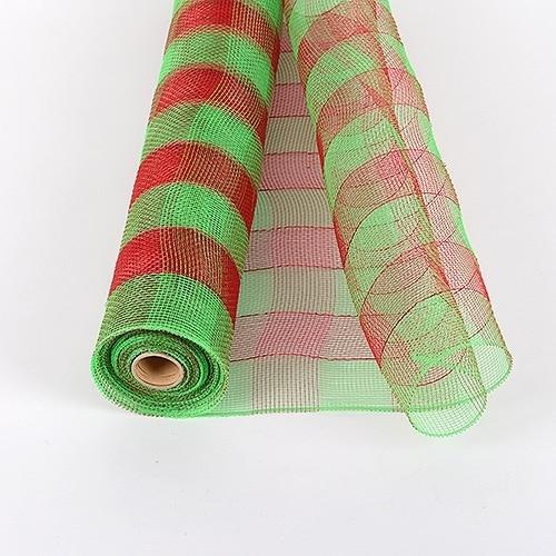 Green  - Christmas Mesh Wraps -  ( 21 Inch x 10 Yards )