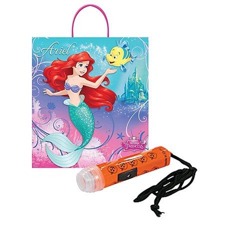 Disney's The Little Mermaid 'Ariel' Happy Halloween Trick or Treat Candy Loot Bag!! Plus Bonus 'Safety First' Mini Halloween Flashlight (Disney's Halloween Treat)
