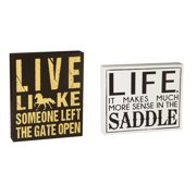 Cape Craftsmen Horse Life Wooden Signs, Set of 2