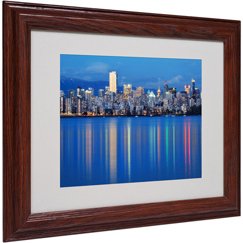 "Trademark Fine Art ""Vancouver City"" Matted Framed Art by Pierre Leclerc"