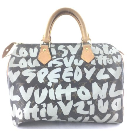 077a0fc64a254 Louis Vuitton - Speedy Limited Edition Rare Sprouse Orange Graffiti  Monogram 30 869964 Silver Coated Canvas Satchel - Walmart.com