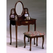 Cherry Picture Frame Vanity And Bench