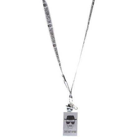 Breaking Bad Heisenberg Grey Lanyard and Badge Holder - Themed Lanyards