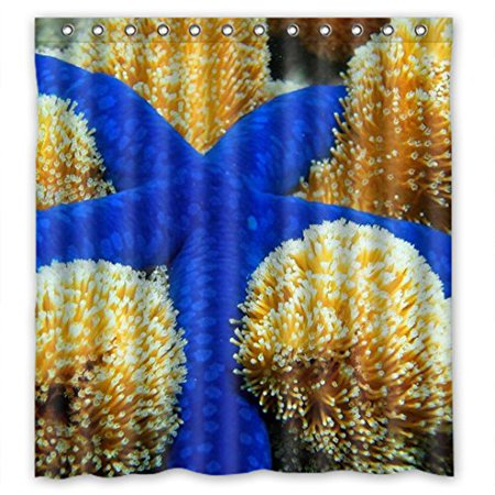 EREHome Blue Shower Curtain Polyester Fabric Bathroom Decorative Curtain Size 66x72 Inches - image 1 of 1