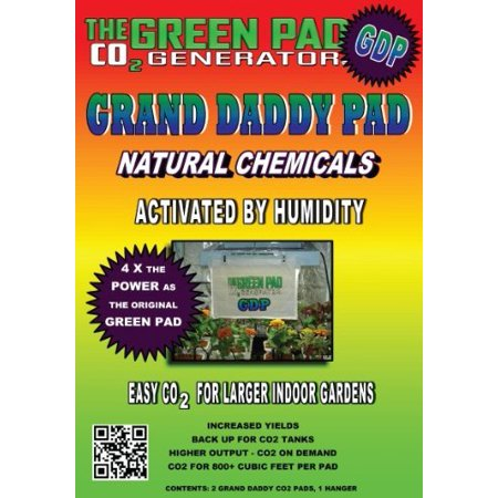 - Green Pad Grand Daddy Pad CO2 Generator, pack of 2 pads w/1 hanger