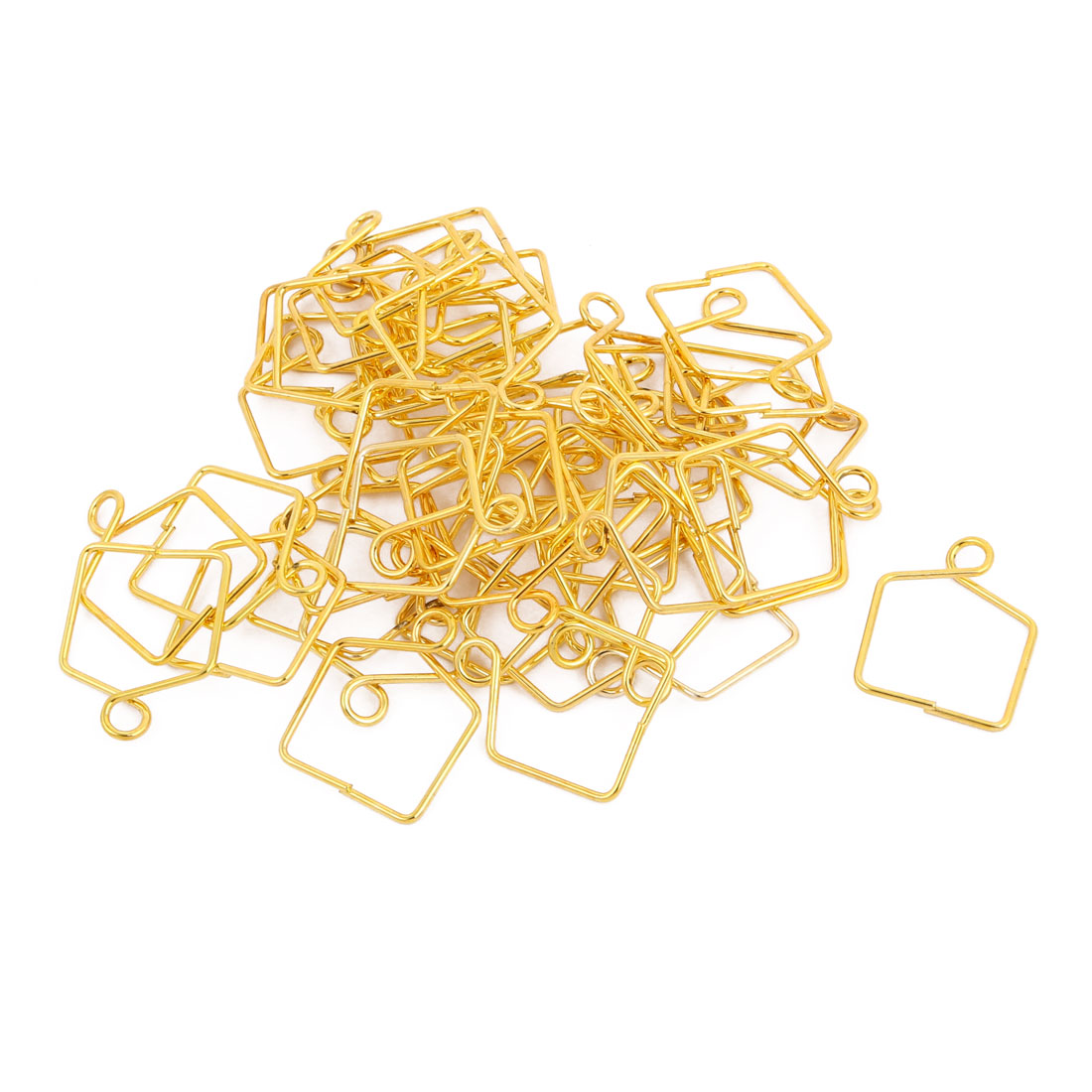 Unique Bargains 50Pcs 18mm Width Gold Tone Chandelier Connector Clip for Fastening Crystal - image 2 de 2