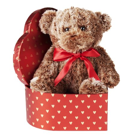 Valentine's Day Brown Teddy Bear Gift Set ()
