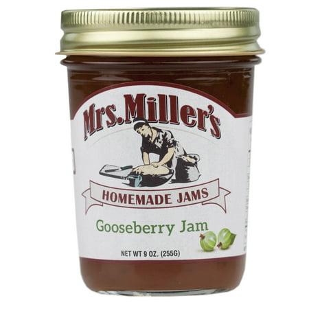 Mrs. Miller's Gooseberry Jam 9 oz. (3 Jars) (Gooseberry Jam)