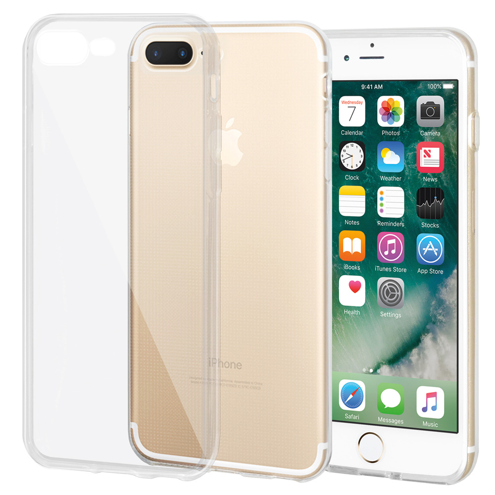 iPhone 7 Plus Case Premium Ultra Slim Soft Gel Crystal Transparent Scratch Resistant Case Clear Protective Cover for Apple iPhone 7 Plus (5.5 Inch)