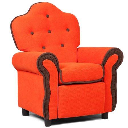 Children Recliner Kids Sofa Chair Couch Living Room Furniture Orange - image 6 de 9