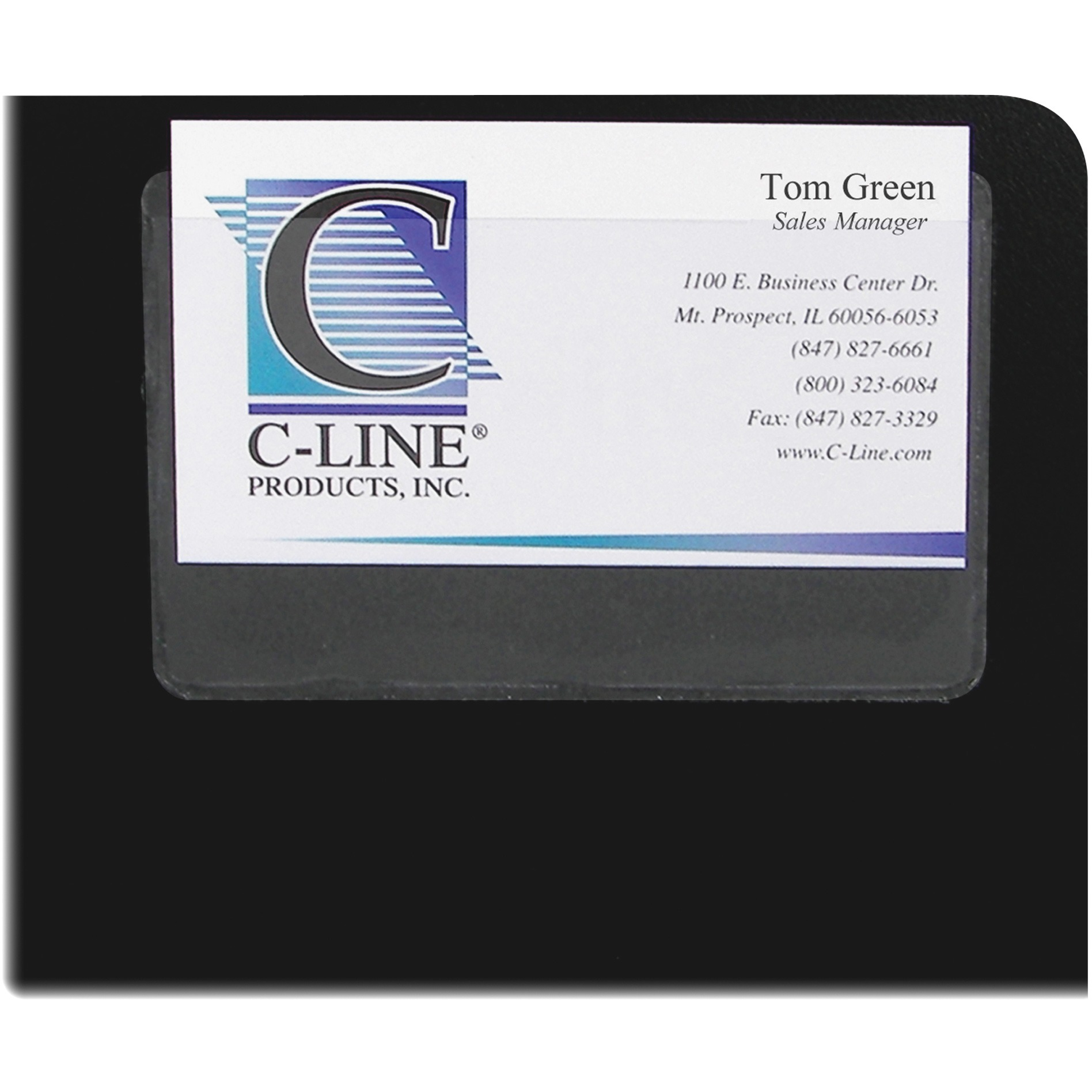 C line self adhesive top load business card holders walmart magicingreecefo Images