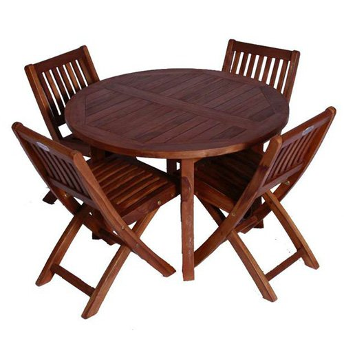 JazTy Kids Round Table ; Chair Set - Seats 4