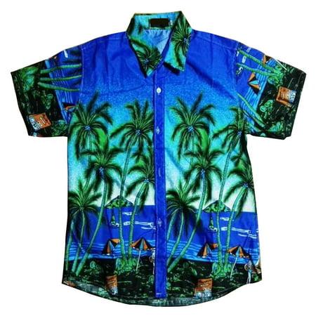 Unisex Lovers Beach Shirt Hawaiian Scenery Casual Couple Tops 11# XL - image 2 of 5