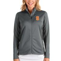 Syracuse Orange Antigua Women's Passage Full-Zip Jacket - Anthracite/Charcoal