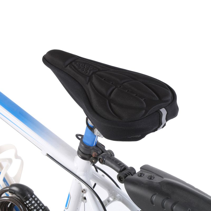 Details about  /Waterproof Bicycle Saddle Bicycle Seat Padded with Shock Absorbing Black