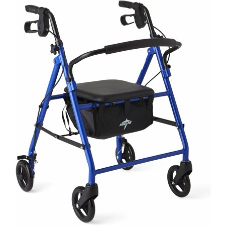 Medline Junior Rollator Walker, Blue