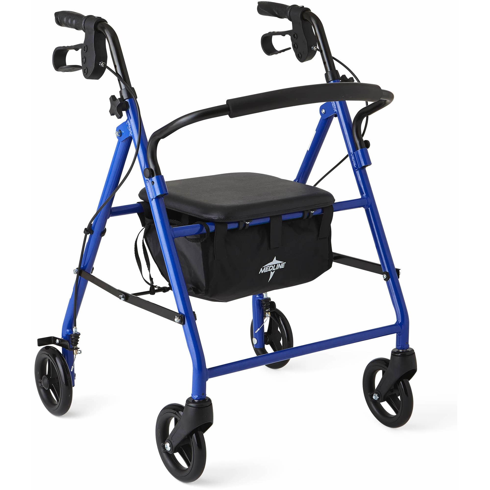 Medline Junior Rollator Walker, Blue