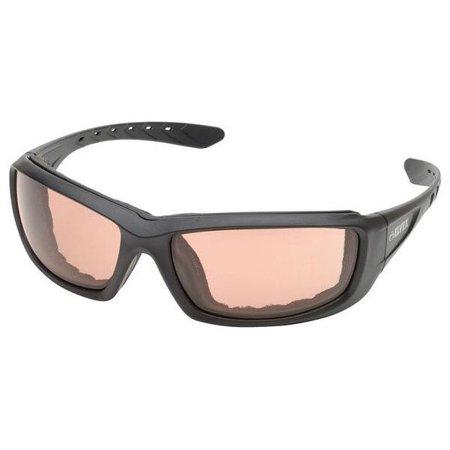 Elvex Go-Specs Pro Safety Glasses Black Frame Light Copper Anti-Fog Lens