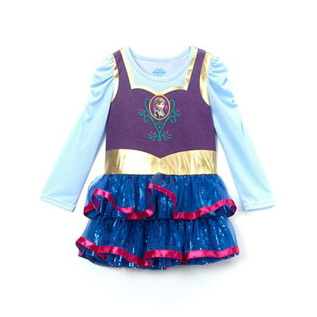 Anna Top - Frozen Anna Cosplay Long Sleeve Tutu Dress with Cape
