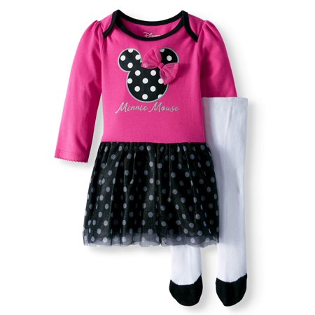 Long Sleeve Tutu Tunic & Leggings, 2-Piece Outfit Set (Baby Girls) - Minnie Mouse Outfit For Women