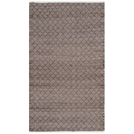 """Safavieh Boston 2'3"""" X 7' Hand Woven Cotton Pile Rug in Brown - image 5 of 7"""