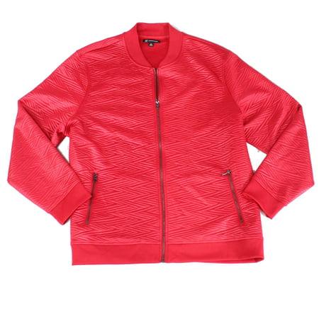 Mens Jacket Jester Zip Pocket Slick Jacquard Full-Zip 2XL