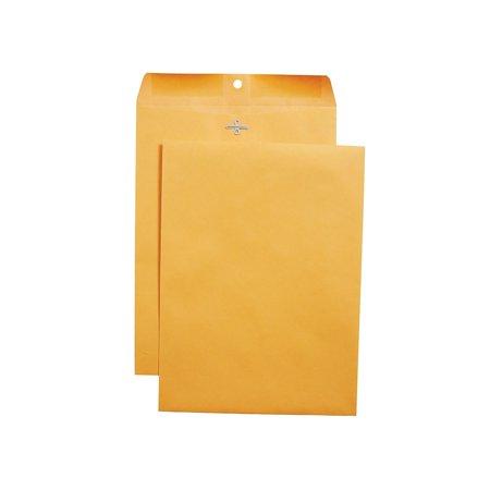 "Staples Clasp & Moistenable Glue Catalog Envelopes 9""L x 12""H Brown 100/BX 187021"