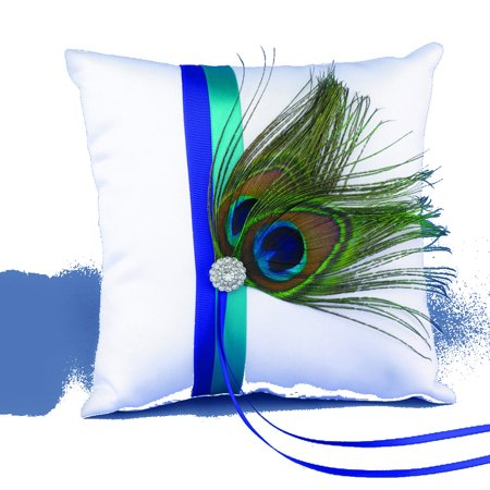 Peacock Plume Pillow - Perfect Wedding Gift