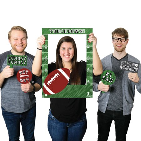 Football Birthday Party Or Baby Shower Selfie Photo Booth Picture