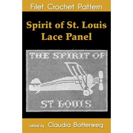 Spirit of St. Louis Lace Panel Filet Crochet Pattern - eBook
