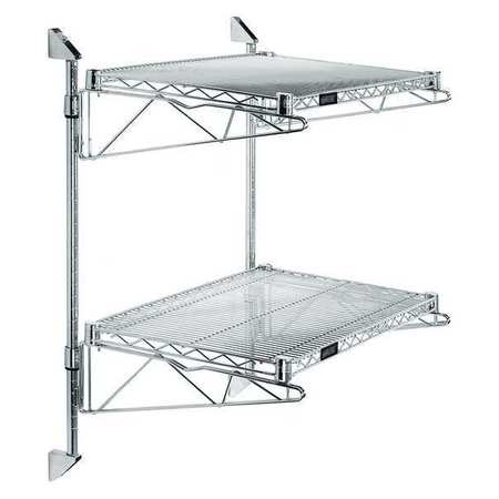 GAV GACB14-34-1448S Wall Shelf,48 in. W x 14 in. D x 34 in.H G4361850