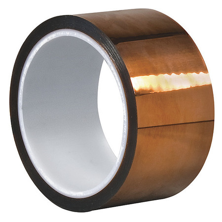 DUPONT Kapton HN Film Tape, Polyimide, Amber, 2 In. x 50 Ft. G4294647