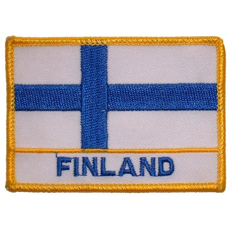 Finland Ribbons - Finland Flag Patch 2 1/2