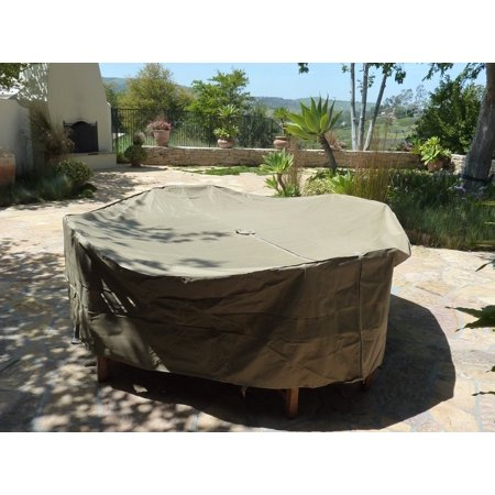 Formosa covers patio set cover 104 dia fits square oval for Oval patio set cover